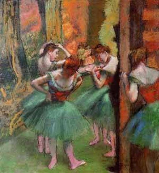Dancers Pink and Green 1885 1895jpeg